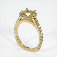18K Yellow Gold Pave Diamond Ring Setting - JS1120Y18