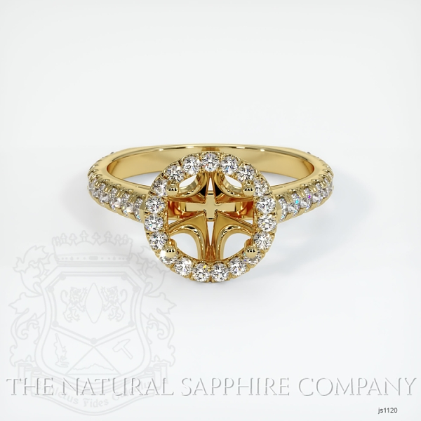 French Cut Diamond Halo Setting - European Shank JS1120 Image 2