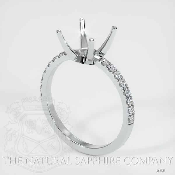 4 Prong Pave Ring Setting JS1121 Image