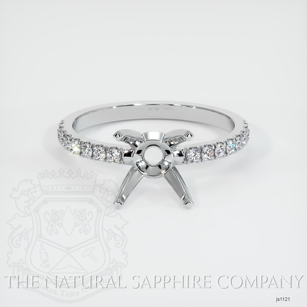 4 Prong Pave Ring Setting JS1121 Image 2