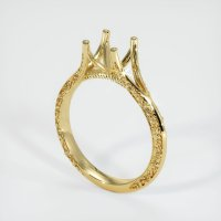 18K Yellow Gold Ring Setting - JS1124Y18