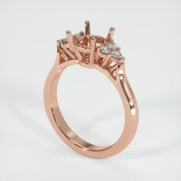 14K Rose Gold Ring Setting - JS1127R14