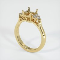 14K Yellow Gold Ring Setting - JS1127Y14