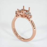 14K Rose Gold Ring Setting - JS1129R14
