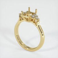 14K Yellow Gold Ring Setting - JS1129Y14