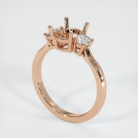 18K Rose Gold Ring Setting - JS1130R18