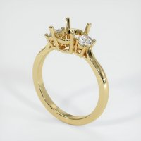 14K Yellow Gold Ring Setting - JS1130Y14