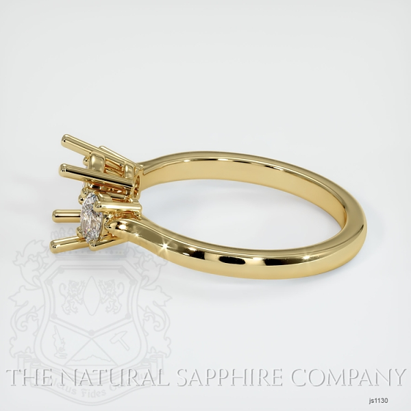 3 Stone Ring Setting - Oval Diamonds JS1130 Image 3