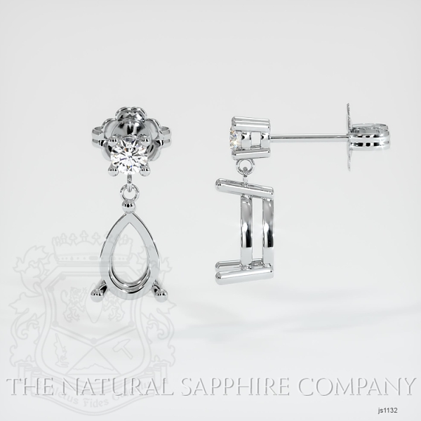 4 Prong Dangling Diamond Earring Setting JS1132 Image 2
