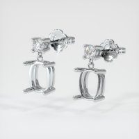 18K White Gold Earring Setting - JS1133W18