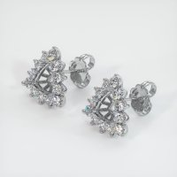 Platinum 950 Earring Setting - JS1135PT
