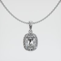 Platinum 950 Pave Diamond Pendant Setting - JS1137PT