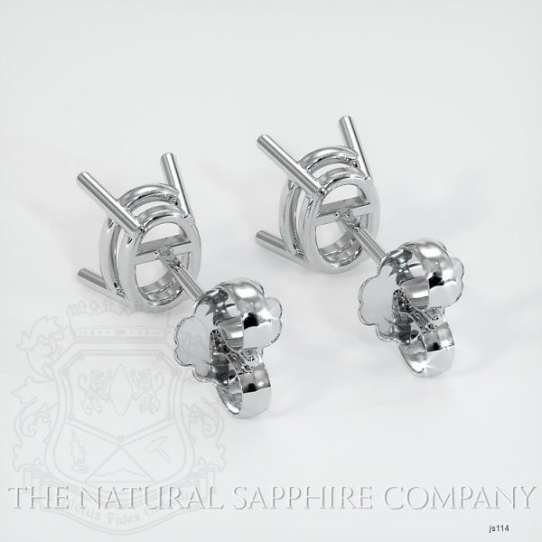 4 Prong Oval Center Earring Setting (Studs) JS114 Image 4