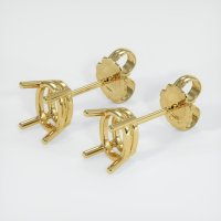 18K Yellow Gold Earring Setting - JS114Y18