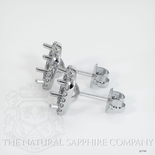 4 Prong Fishtail Earring Setting (Studs) JS1144 Image 2