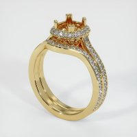 14K Yellow Gold Pave Diamond Ring Setting - JS1146Y14