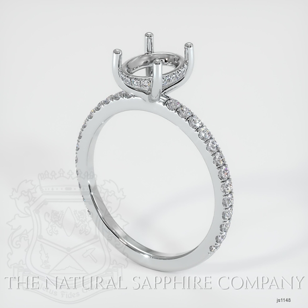 4 Prong Cathedral Pave Ring Setting JS1148 Image
