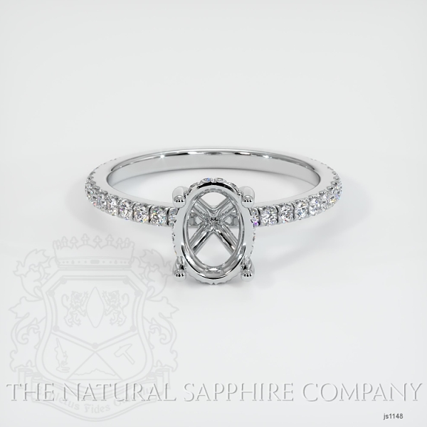 4 Prong Cathedral Pave Ring Setting JS1148 Image 2