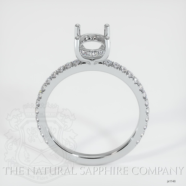 4 Prong Cathedral Pave Ring Setting JS1148 Image 4