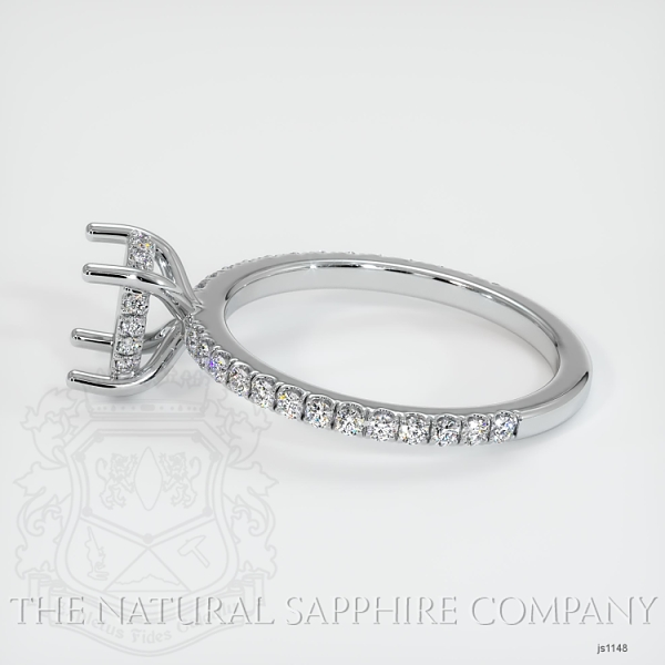 4 Prong Hidden Halo Pave Ring Setting JS1148 Image 3