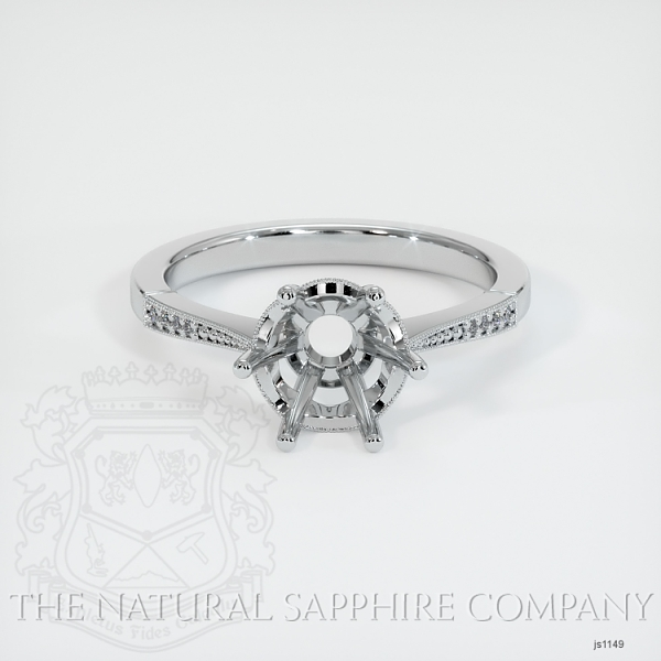 Vintage Solitaire Ring Setting JS1149 Image 2