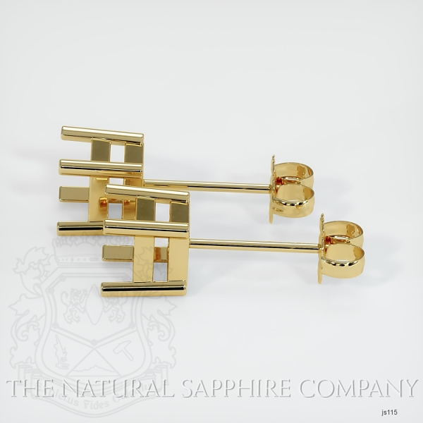 4 Prong Square Earring Setting JS115 Image 2