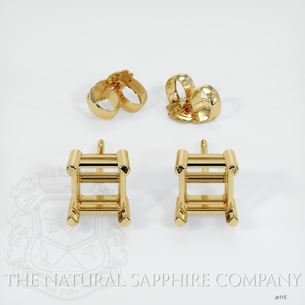 4 Prong Square Earring Setting JS115 Image 3