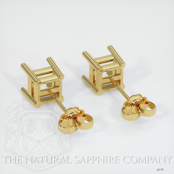 4 Prong Square Earring Setting JS115 Image 4
