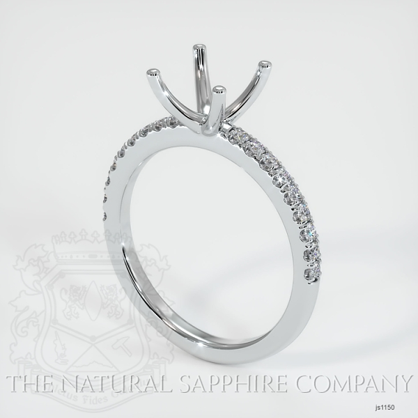 4 Prong Pave Ring Setting JS1150 Image