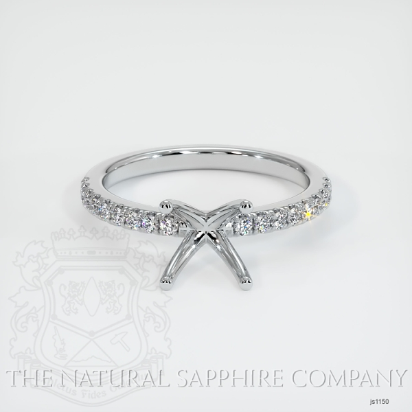 4 Prong Pave Ring Setting JS1150 Image 2