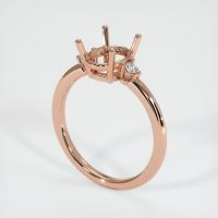 14K Rose Gold Ring Setting - JS1152R14