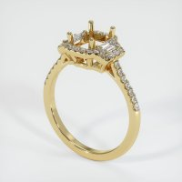14K Yellow Gold Pave Diamond Ring Setting - JS1156Y14