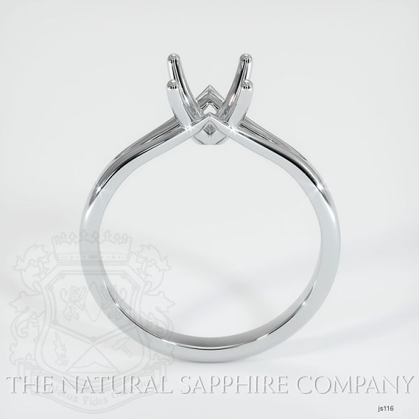 4 Prong Split Shank Solitaire Ring JS116 Image 4