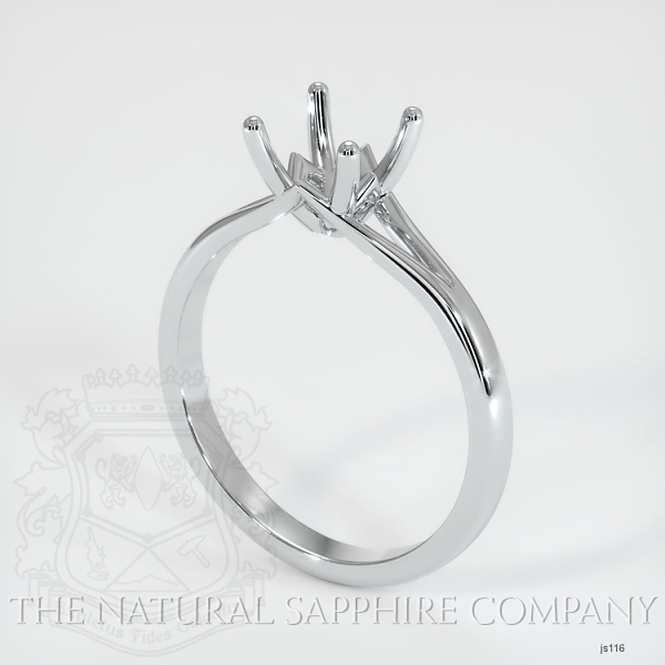 4 Prong Split Shank Solitaire Ring JS116 Image