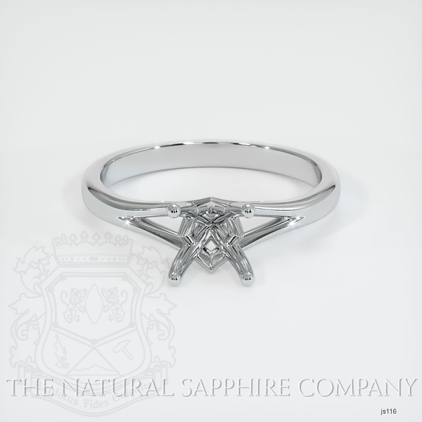 4 Prong Split Shank Solitaire Ring JS116 Image 2