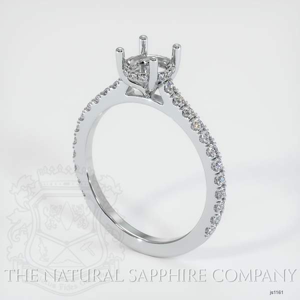 Pave Diamond Halo Ring Setting JS1161 Image