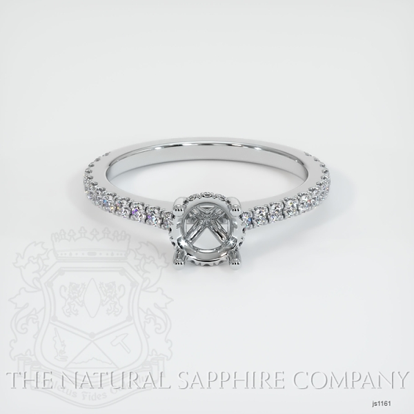 Pave Diamond Halo Ring Setting JS1161 Image 2