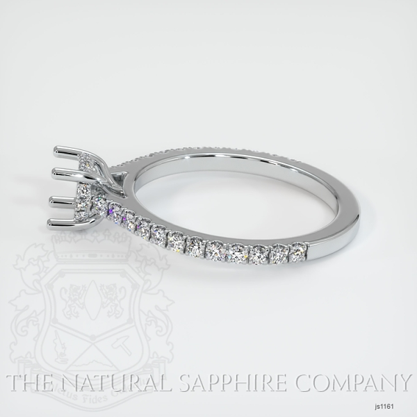 Pave Diamond Halo Ring Setting JS1161 Image 3