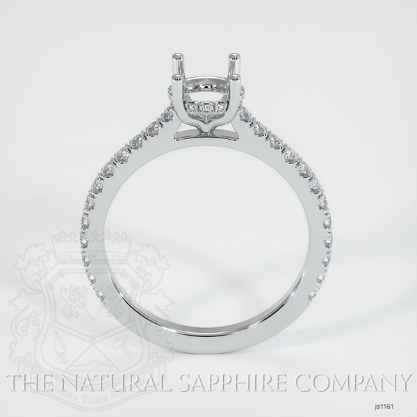 Pave Diamond Halo Ring Setting JS1161 Image 4