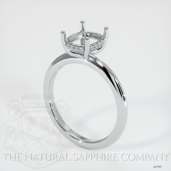 Solitaire Ring Setting - Pave Diamond Basket JS1163 Image