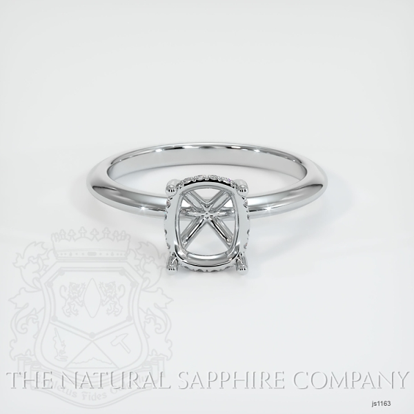 Solitaire Ring Setting - Pave Diamond Basket JS1163 Image 2
