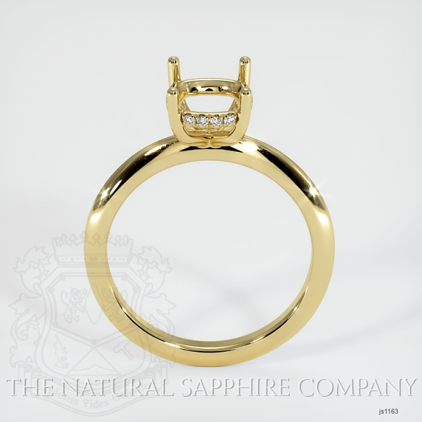 Solitaire Ring Setting - Pave Diamond Basket JS1163 Image 4