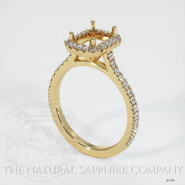 Pave Diamond Halo Ring Setting JS1164 Image