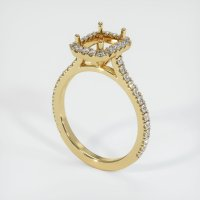 14K Yellow Gold Pave Diamond Ring Setting - JS1164Y14