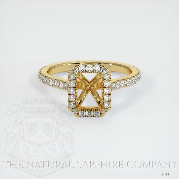 Pave Diamond Halo Ring Setting JS1164 Image 2