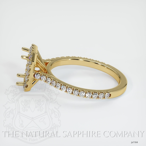 Pave Diamond Halo Ring Setting JS1164 Image 3