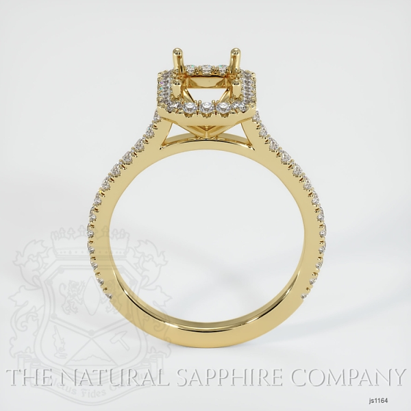 Pave Diamond Halo Ring Setting JS1164 Image 4