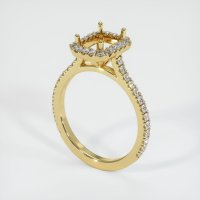 18K Yellow Gold Pave Diamond Ring Setting - JS1164Y18