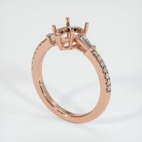 14K Rose Gold Pave Diamond Ring Setting - JS1167R14