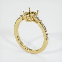 18K Yellow Gold Pave Diamond Ring Setting - JS1167Y18